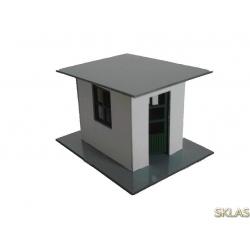 H0 - caseta de hormigón con puerta abatible